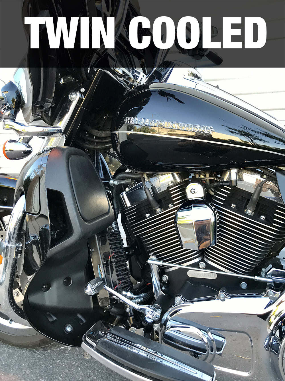 FLH Touring 2009-2016 including Twin-Cooled Lower Fairing Mount on