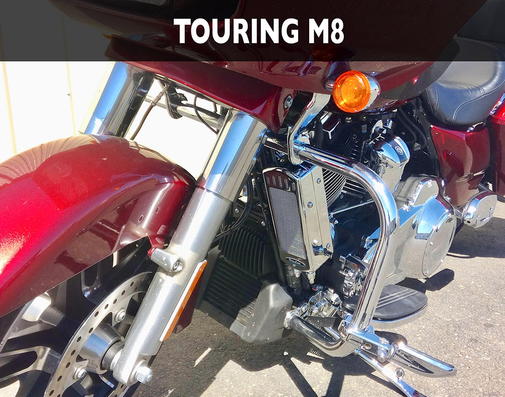 FLH Milwaukee 8 2017-Current , 3 0 Dual Fan Assisted , Side Mount on Down  Tube